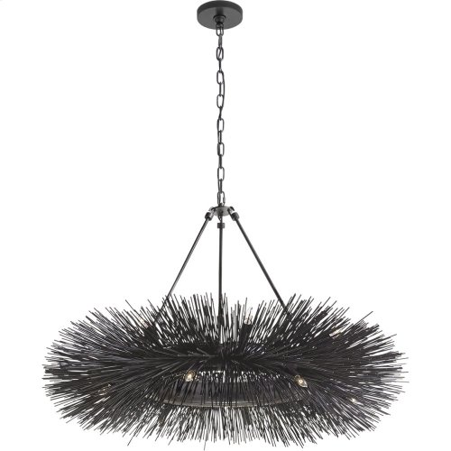 Visual Comfort KW5181AI Kelly Wearstler Strada 16 Light 40 inch Aged Iron Chandelier Ceiling Light