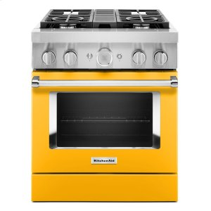 KitchenAidKitchenAid® 30'' Smart Commercial-Style Dual Fuel Range with 4 Burners - Yellow Pepper