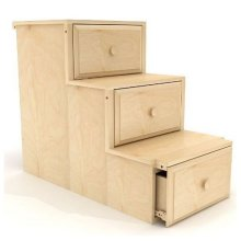 Staircase Frame with Drawers : Natural