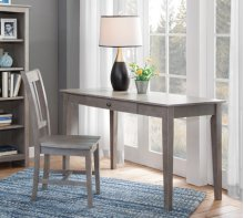"48"" Writing Table Taupe Gray"