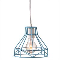 Blue Wire Pendant. 60W Max. Plug in with On/Off Switch. Product Image