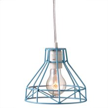 Blue Wire Pendant. 60W Max. Plug in with On/Off Switch.