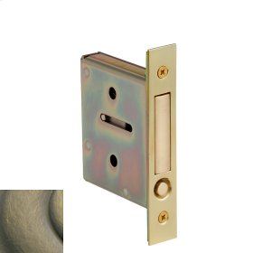 Satin Brass and Black 8601 Pocket Door Pull