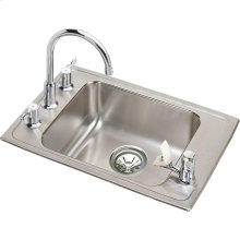 "Elkay Lustertone Classic Stainless Steel 22"" x 19-1/2"" x 6-1/2"", Single Bowl Drop-in Classroom ADA Sink Kit"