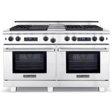 "60"" Medallion Series Dual Fuel Self-clean Gas Range"