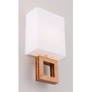 INCANDESCENT BOUTIQUE ARCADIA DOUBLE SCONCE - BRUSHED ALUMINUM/BAMBOO