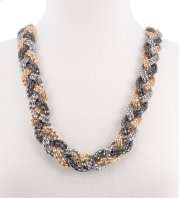 BTQ Braided Metallic Necklace Product Image