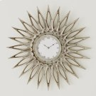 Dahlia Wall Clock-Nickel Product Image