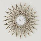 Dahlia Wall Clock-Nickel Product Image