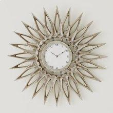 Dahlia Wall Clock-Nickel