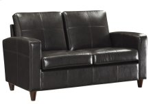 Loveseat With Espresso Finish Legs
