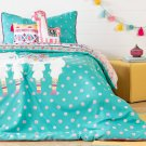 Kids Bedding set: Comforter, Pillowcase, decorative cushions and guirland Festive Llama - 39'' Product Image