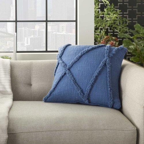 "Life Styles Sh018 Blue 18"" X 18"" Throw Pillows"