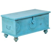 Leelo Coffee Table Trunk, Blue, CAR-TR-B