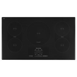 """36"""" Induction Cooktop with 5 Elements, Touch-Activated Controls and Power Slider - Black"""