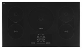 "36"" Induction Cooktop with 5 Elements, Touch-Activated Controls and Power Slider - Black"