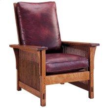 Oak Compact Spindle Morris Chair