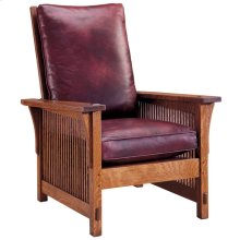 Oak Compact Spindle Morris Chair