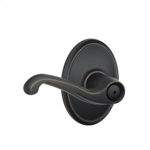 Flair Lever with Wakefield trim Bed & Bath Lock - Aged Bronze