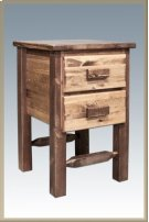 Homestead Nightstand with 2 Drawers - Stained and Lacquered Product Image