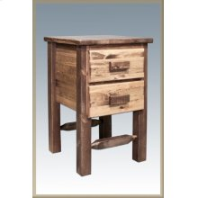 Homestead Nightstand with 2 Drawers - Stained and Lacquered