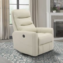 Hercules Oyster Power Swivel Glider Recliner with Articulating Headrest and built-in battery pack