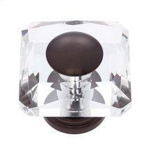 Old World Bronze 50 mm Square Crystal Knob