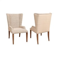 Upholstered Wing Arm Chair - Pair