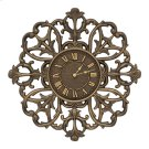 "Filigree Silhouette 21"" Indoor Outdoor Wall Clock - Aged Bronze Product Image"