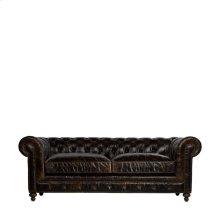 """90"""" Cigar Club Leather Sofa"""