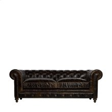 "90"" Cigar Club Leather Sofa"