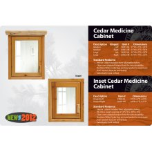 Cedar Medicine Cabinet