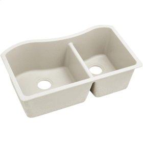 "Elkay Quartz Luxe 32-1/2"" x 20"" x 10"", 60/40 Double Bowl Undermount Sink, Ricotta"