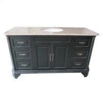 60 inches Single Vanity - Mahogany Product Image