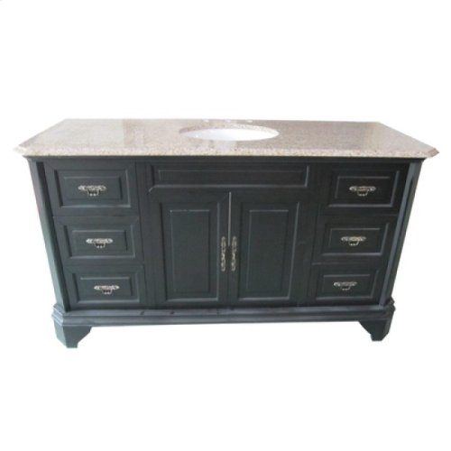 60 inches Single Vanity - Mahogany