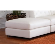 Quinn Transitional White Ottoman