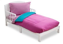 Pink/Blue Gingham 4-Piece Toddler Bedding Set - Kid bundle - Pink\/Blue Gingham (2007)