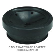 For mounting continuous feed disposals to existing 3 bolt hardware
