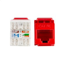 Punch Cat5 Keystone Inserts - Red