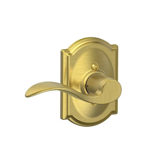 Accent Lever with Camelot trim Non-turning Lock - Satin Brass