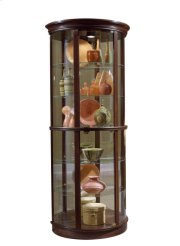 CLEARANCE ITEM--Preference Half Round Mirrored Curio Product Image