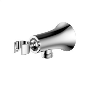 Hand Shower Wall Bracket with Outlet Taos (series 17) Polished Chrome