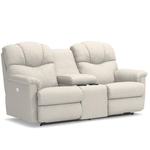Lancer PowerRecline La-Z-Time® Full Reclining Loveseat w/ Console and Power Headrest