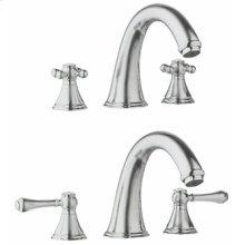 Geneva Roman tub filler -Satin Nickel / Polished Brass Accents