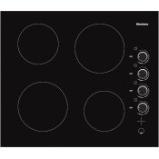 24in electric cooktop, 4 burner, knob controls