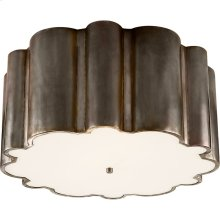Visual Comfort AH4021GM-FG Alexa Hampton Markos 4 Light 26 inch Gun Metal Flush Mount Ceiling Light in Frosted Acrylic