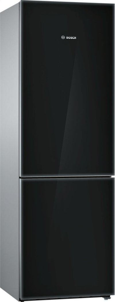 800 Series, Free-standing fridge-freezer-Black Glass Door Product Image