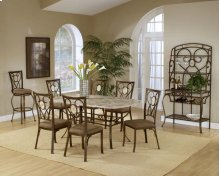 Brookside 7pc Rectangle Set and Oval Chairs