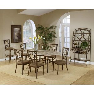 Hillsdale FurnitureBrookside 7pc Rectangle Set and Oval Chairs