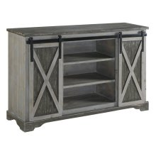 Richland Grey Two Tone Sliding Door Media Console